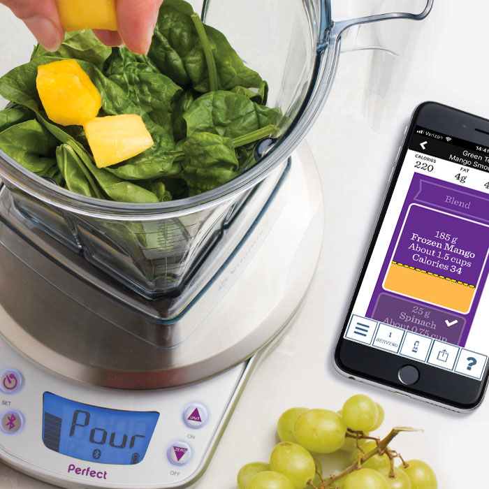 Perfect blend app available now scale coming fall 2016 for Vitamix perfect blend smart scale