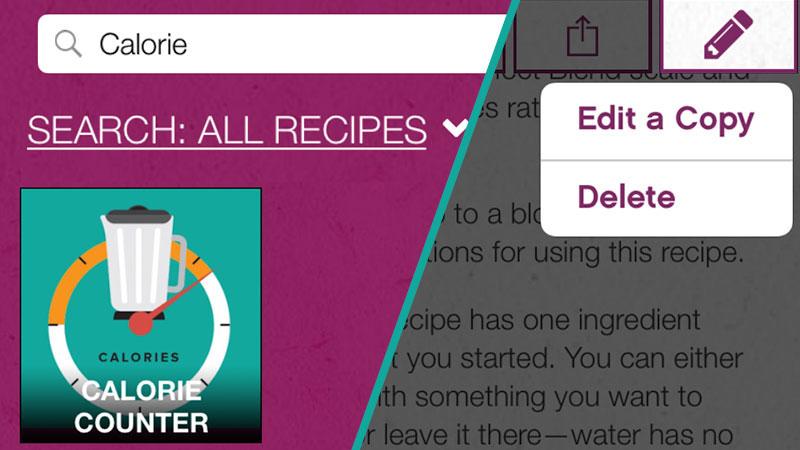 Edit a copy of the recipe